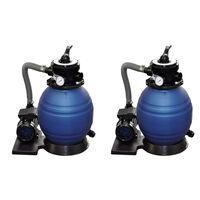vidaXL Sand Filter Pumps 2pcs 400 W 11000 l/h