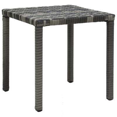 vidaXL Sun Loungers with Table Poly Rattan Anthracite