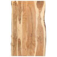 vidaXL Table Top Solid Acacia Wood 100x(50-60)x3.8 cm