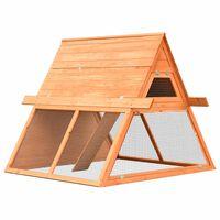 vidaXL Rabbit Hutch Solid Pine & Fir Wood 152x128x108 cm