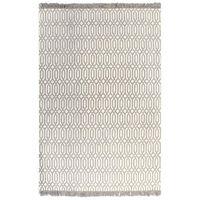 vidaXL Kilim Rug Cotton 120x180 cm with Pattern Taupe