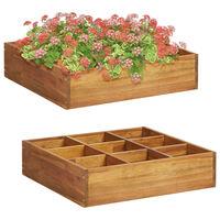 vidaXL Herb Garden Raised Bed Solid Acacia Wood 60x60x15 cm