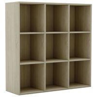 vidaXL Book Cabinet Sonoma Oak 98x30x98 cm Chipboard