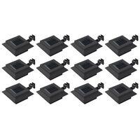 vidaXL Outdoor Solar Lamps 12 pcs LED Square 12 cm Black