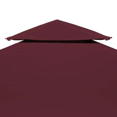 vidaXL 2-Tier Gazebo Top Cover 310 g/m² 3x3 m Bordeaux