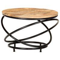 vidaXL Coffee Table Black 60x60x40 cm Solid Rough Mango Wood