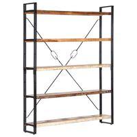 vidaXL 5-Tier Bookcase 140x30x180 cm Solid Reclaimed Wood