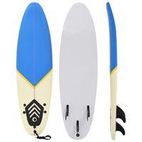 vidaXL Surfboard 170 cm Blue and Cream