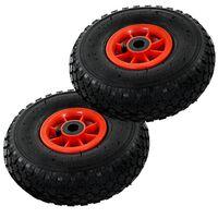 vidaXL Sack Truck Wheels 2 pcs Rubber 3.00-4