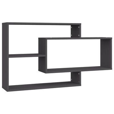 vidaXL Wall Shelves Grey 104x20x58.5 cm Chipboard