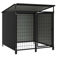 vidaXL Outdoor Dog Kennel 133x133x113 cm
