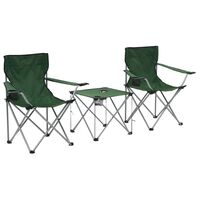 vidaXL Camping Table and Chair Set 3 Pieces Green