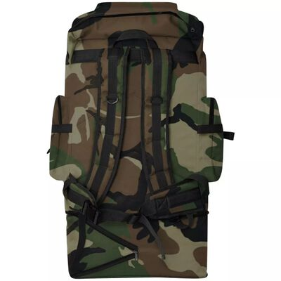 vidaXL Army-Style Backpack XXL 100 L Camouflage