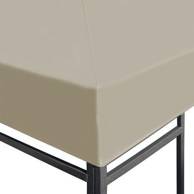 vidaXL Gazebo Top Cover 310 g/m² 3x3 m Beige