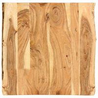 vidaXL Table Top Solid Acacia Wood 60x(50-60)x2.5 cm