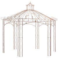 vidaXL Garden Pavilion Antique Brown 4 m Iron