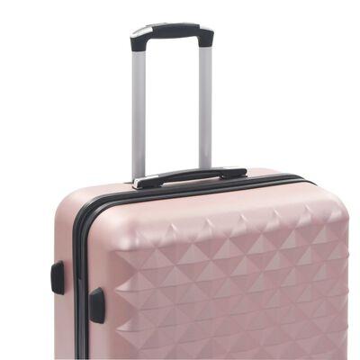 vidaXL Hardcase Trolley Set 3 pcs Rose Gold ABS