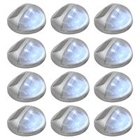 vidaXL Outdoor Solar Wall Lamps LED 12 pcs Round Silver