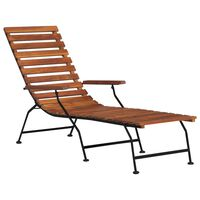 vidaXL Outdoor Deck Chair Solid Acacia Wood