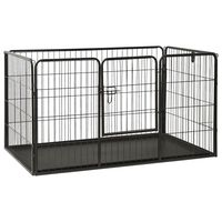 vidaXL Puppy Playpen Steel 125x80x70 cm