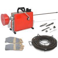 vidaXL Pipe Cleaning Machine 250 W 15mx16mm 4.5mx9.5mm