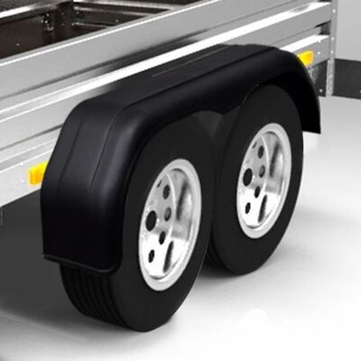 vidaXL Tandem Mudguards for Trailer Wheels 2 pcs 240 x 1650 mm,