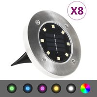 vidaXL Solar Ground Lights 8 pcs LED Lights RGB Colour