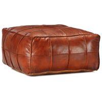 vidaXL Pouffe Tan 60x60x30 cm Genuine Goat Leather