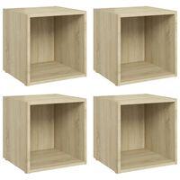 vidaXL TV Cabinets 4 pcs Sonoma Oak 37x35x37 cm Chipboard