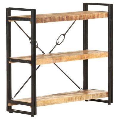 vidaXL 3-Tier Bookcase 90x30x80 cm Solid Mango Wood
