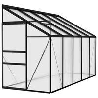 vidaXL Greenhouse Anthracite Aluminium 6.23 m³