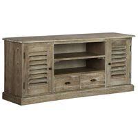 vidaXL TV Cabinet Solid Mindi Wood 145x35x60 cm