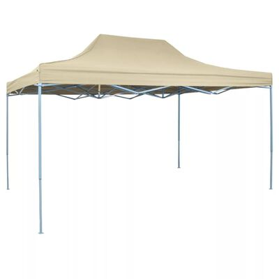 vidaXL Foldable Tent Pop-Up 3x4.5 m Cream White