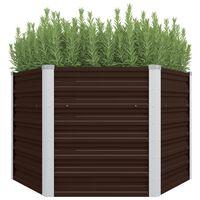 45721 vidaXL Garden Raised Bed Brown 129x129x77 cm Galvanised Steel