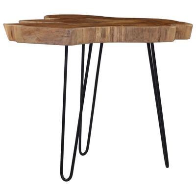 vidaXL Coffee Table (60-70)x45 cm Teak Wood
