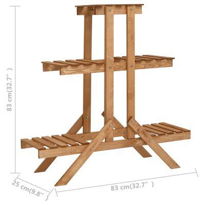 vidaXL Plant Stand 83x25x83 cm Firwood