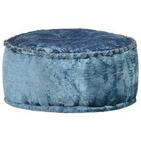 vidaXL Round Pouffe Velvet 40x20 cm Blue