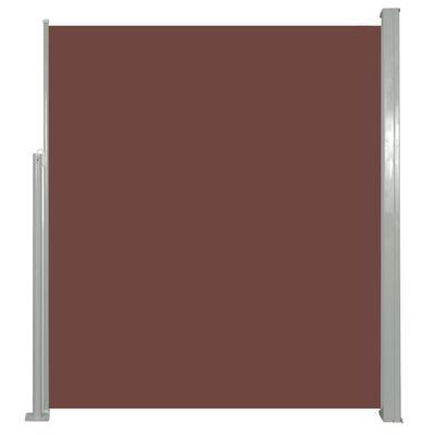 vidaXL Retractable Side Awning 160 x 500 cm Brown