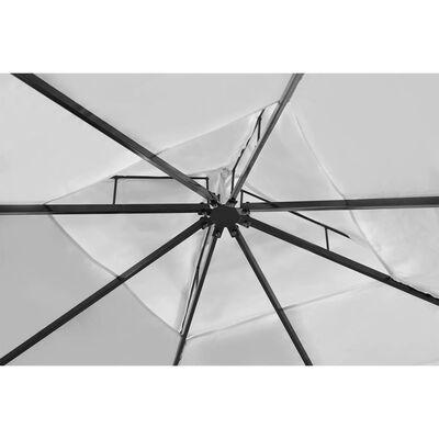 vidaXL Poly Rattan Gazebo with Cream White Roof 3 x 4 m