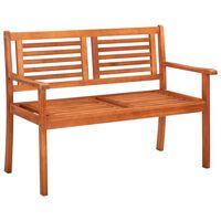 vidaXL 2-Seater Garden Bench 120 cm Solid Eucalyptus Wood