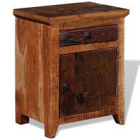 vidaXL Nightstand Solid Acacia Reclaimed Wood