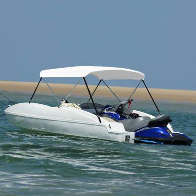 vidaXL 2 Bow Bimini Top White 180x130x110 cm