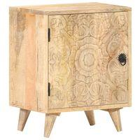 vidaXL Carved Bedside Cabinet 40x30x50 cm Solid Mango Wood