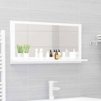 vidaXL Bathroom Mirror White 80x10.5x37cm Chipboard