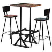 vidaXL Bar Set 5 Piece Solid Reclaimed Wood Multicolour