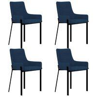 vidaXL Dining Chairs 4 pcs Blue Fabric