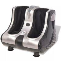 vidaXL Shiatsu Foot and Calf Massager Silver