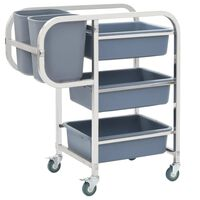 vidaXL Kitchen Cart with Plastic Containers 82x43.5x93 cm
