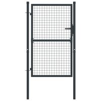 vidaXL Mesh Garden Gate Galvanised Steel 100x175 cm Grey