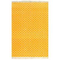 vidaXL Kilim Rug Cotton 160x230 cm with Pattern Yellow